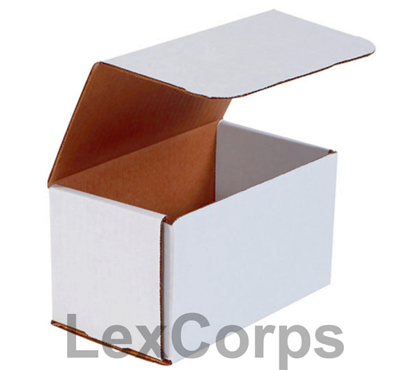 7x4x4 White Corrugated Mailers