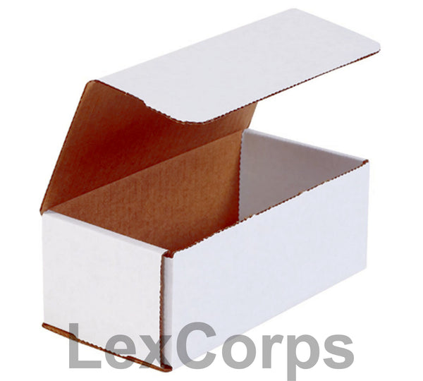 8x4x3 White Corrugated Mailers
