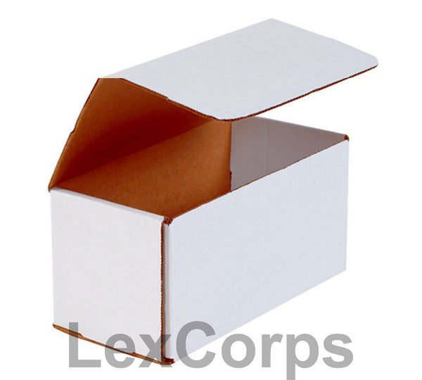 8x4x4 White Corrugated Mailers