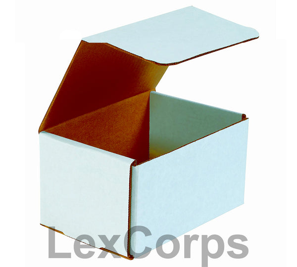 8x6x4 White Corrugated Mailers