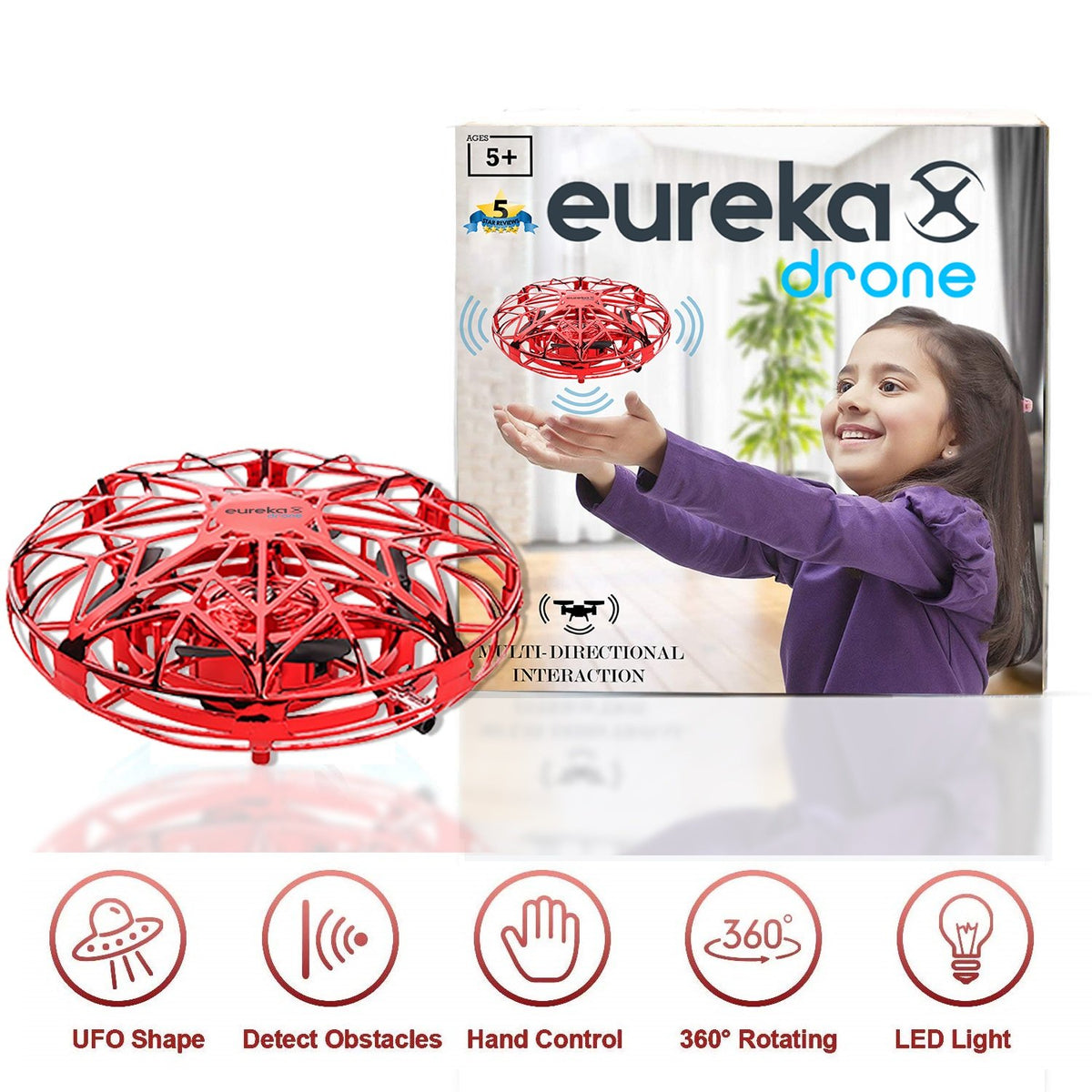 eureka drone mini drone red