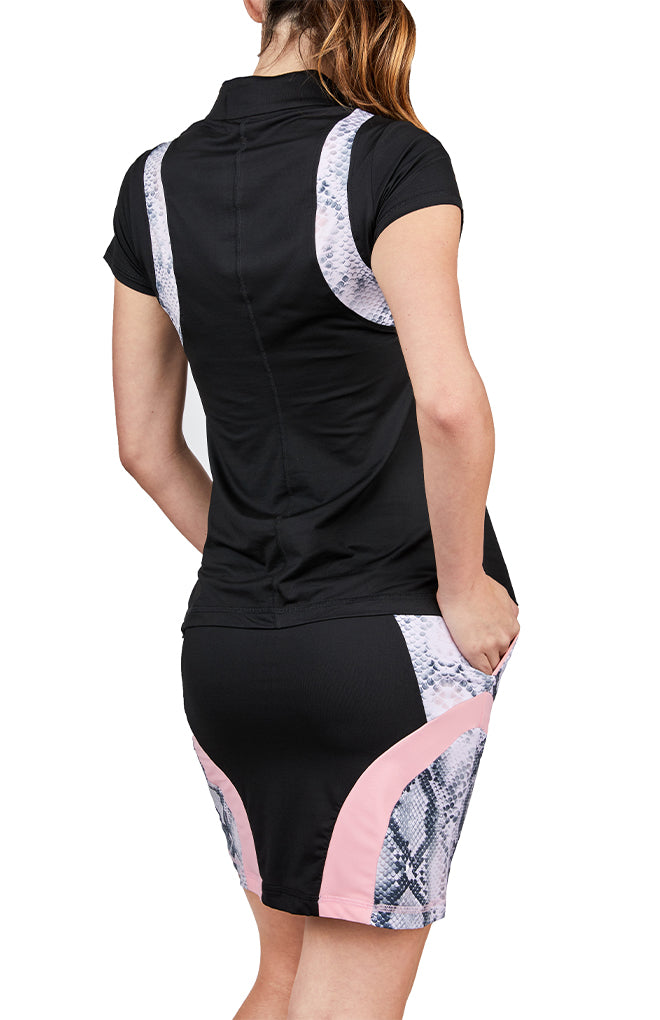 Zip Short Sleeve - Rose Anaconda