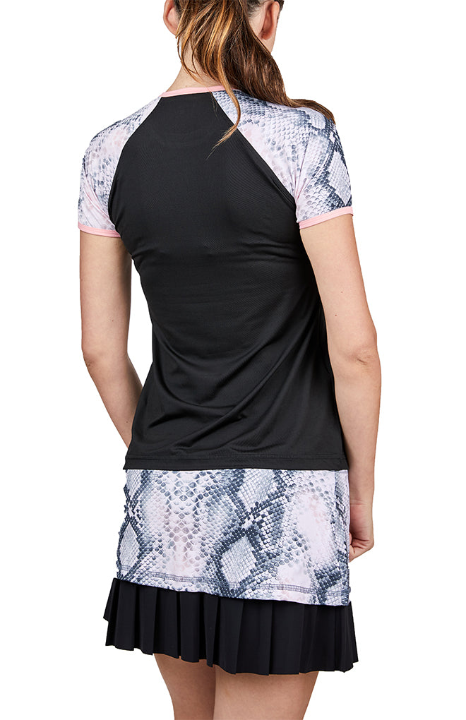 Short Sleeve - Rose Anaconda
