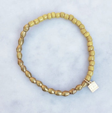 NEW!!  Sure Thing Bracelet / Mustard