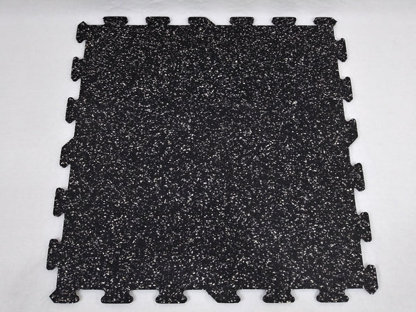 "30% Raiders Rubber Interlocking Tiles 24"" x 24"" x 9.5mm"
