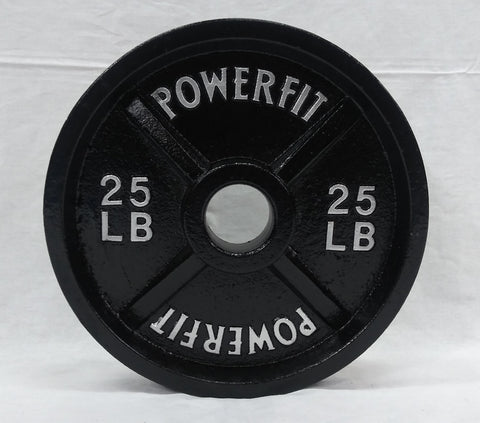 PowerFit Olympic Metal Weight Plates-FREE SHIPPING