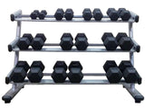 PowerFit Commercial Silver Three Tier Dumbbell Rack