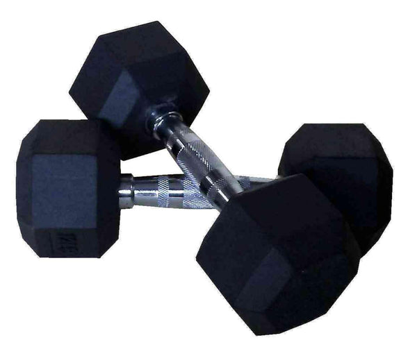 PowerFit Rubber Hex Dumbbell (Sold in Pairs)
