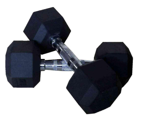 PowerFit Rubber Hex Dumbbells