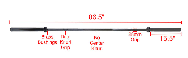 PowerFit OB86 Standard Olympic Bar