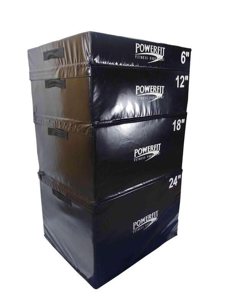PowerFit Soft Plyo Set for Commercial and Home Gyms