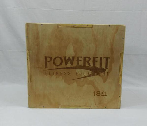 "PowerFit Wooden Plyo Box 12""/18""/20""-FREE SHIPPING"
