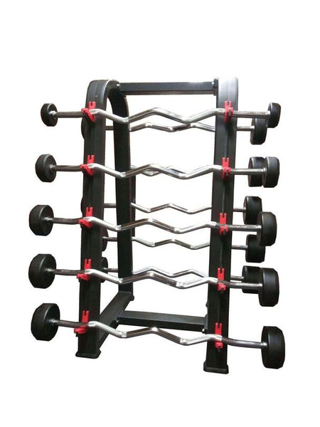 PowerFit Set of Fixed Weight Barbells and A Frame Barbell Rack