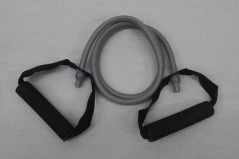 PowerFit Resistance Band with Handles-Grey