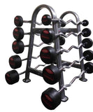 PowerFit Fixed weight EZ Curl barbell with Rack-FREE SHIPPING