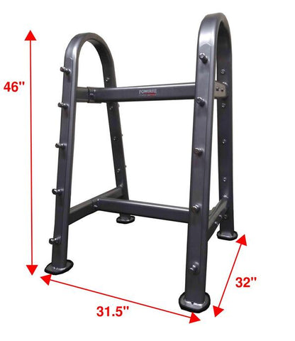 PowerFit Curved Top A Frame Barbell Rack