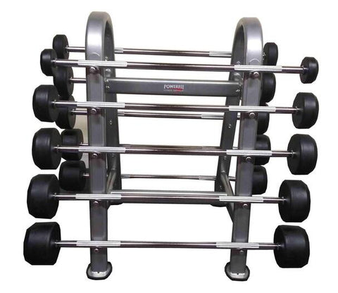 PowerFit Fixed Weight Barbell with Rack