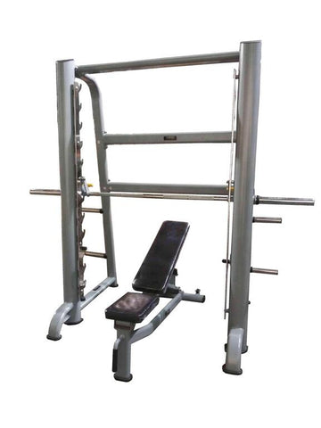 PowerFit Smith Machine with Pro Grade Commercial Bench
