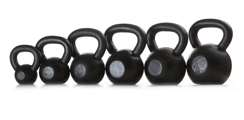 PowerFit Cast Iron Kettlebells-Black