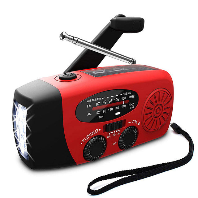 Aegis Solar/Hand Crank Radio Flashlight