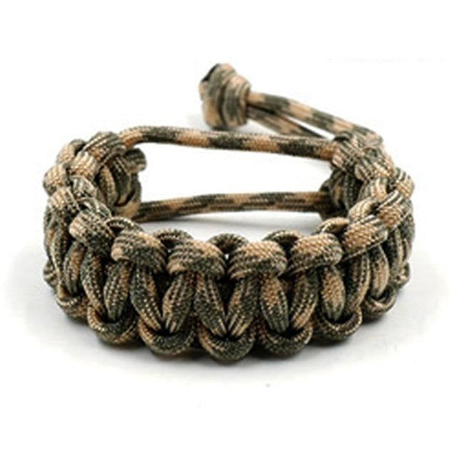 No Buckle 550 Paracord Survival Bracelet