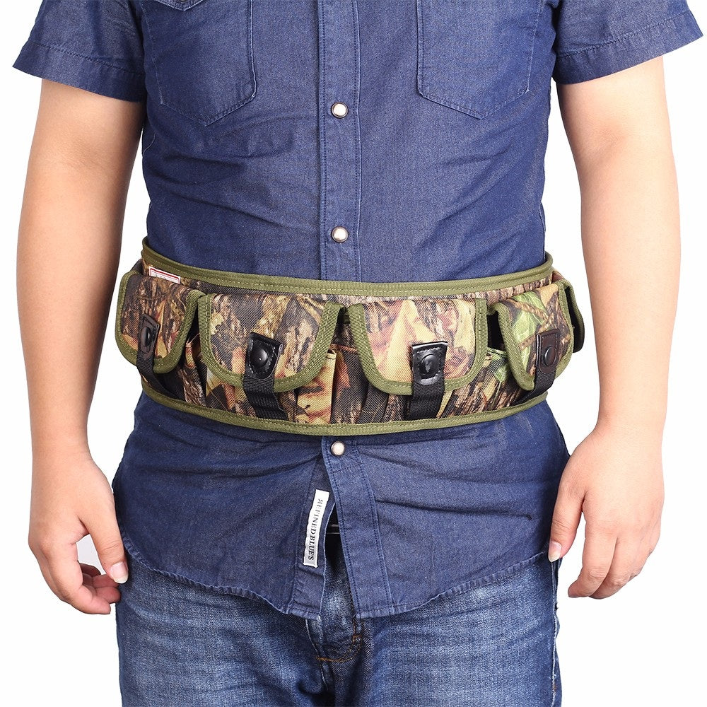 12/20 Gauge Pocketed Camo Bandolier Belt