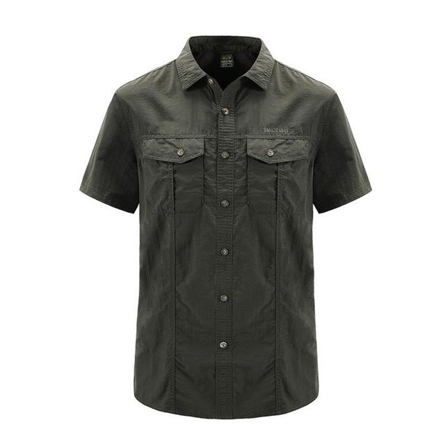 Men's Traditional Tactical Shirt Short Sleeve - Peritian