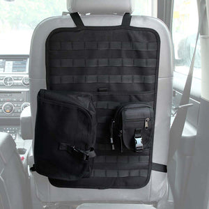Car Seat MOLLE Storage Panel + 2 MOLLE Pouches - Peritian