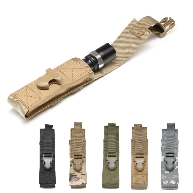1000D MOLLE Tactical Adjustable Flashlight Holder - Peritian