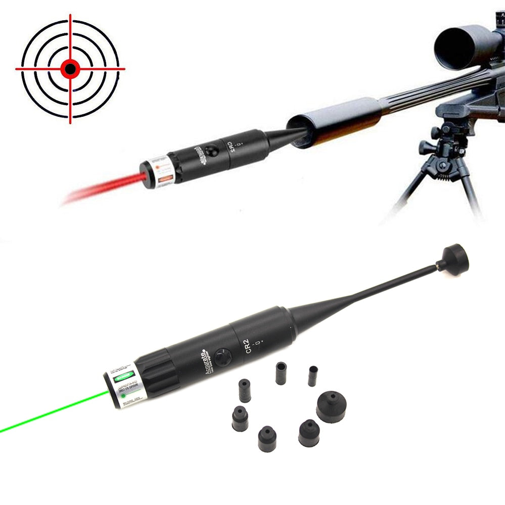 Hunting Green Red Laser Boresighter Kits Green Red Dot Bore Sight with On Off Switch for .177 to .50 Caliber Riflescope - Peritian