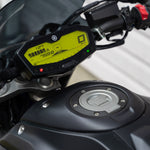 night fluo vibrant yellow dash mod FZ07 MT07