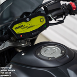 night fluo vibrant yellow dash mod FZ09 MT09