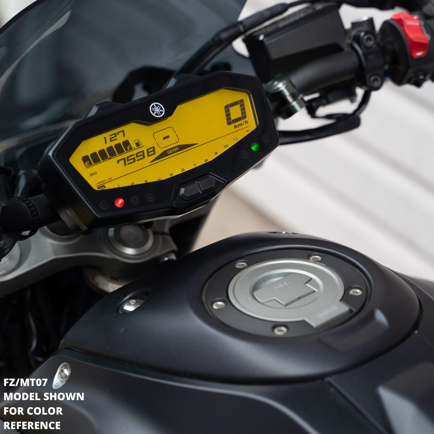 yellow dash mod FZ09 MT09