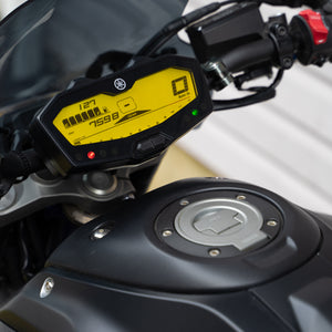 yellow dash mod FZ07 MT07
