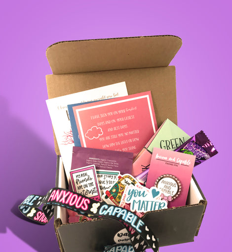Anxious and Capable Mental Health Self Care Box