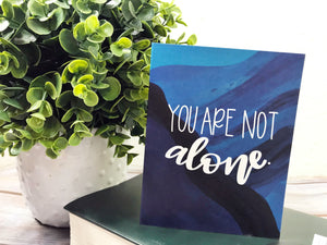 """You Are Not Alone"" Illustrated Greetings Card"