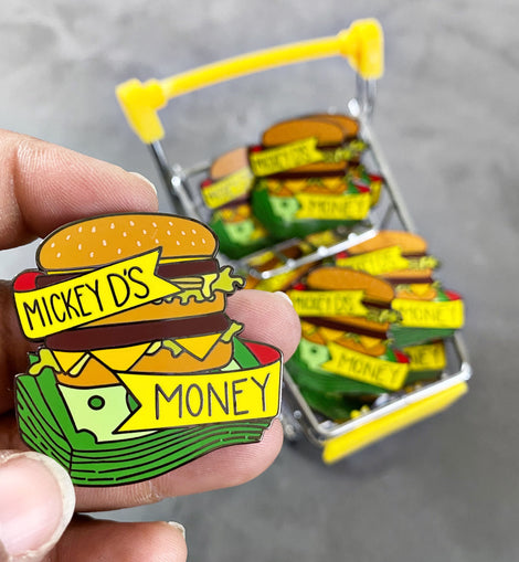 Mickey D's Money Black Culture Enamel Pin