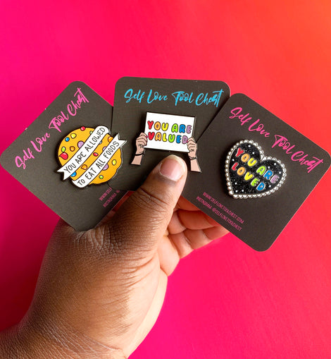 Affirmation Rainbow Mental Health Enamel Pin - Collection