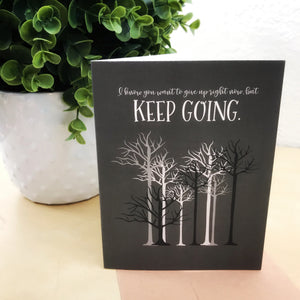 """Keep Going"" Illustrated Mental Health Greetings Card"