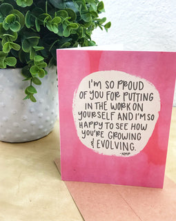 """I'm Proud of You"" Illustrated Greetings Card"