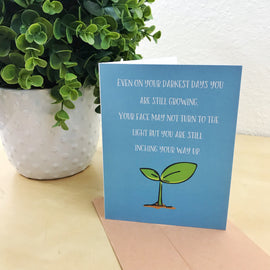 """Darkest Days"" Illustrated Mental Health Greetings Card"