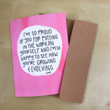 "Load image into Gallery viewer, ""I'm Proud of You"" Illustrated Greetings Card"