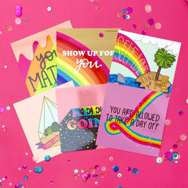 Rainbow Quote Illustrated Postcard Prints