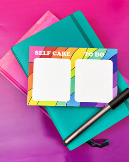 Self Care and To Do RAINBOW Illustrated Notepad