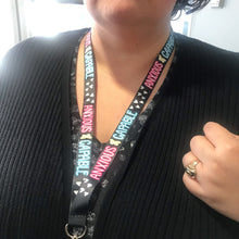 Load image into Gallery viewer, Anxious and Capable Mental Health Awareness Lanyard