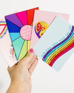 Rainbow Affirmations Greeting Card Set