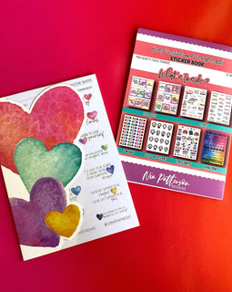 Mental Health and Body Positivity Watercolor Silver FOILED Sticker Book