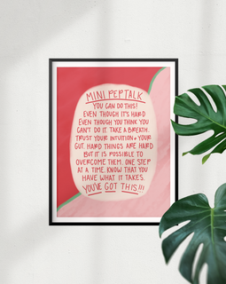 """Mini Pep Talk"" High Quality Art Print"