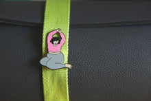 Load image into Gallery viewer, Namaste Enamel Pin - Fat Yoga Babe Pin Collection