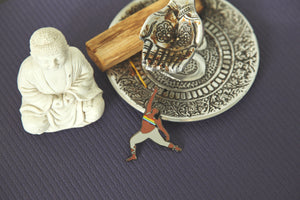 Warrior Pose Enamel Pin - Fat Yoga Babe Pin Collection